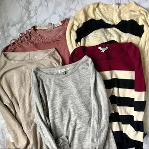 Lot of 5 Summer Sweaters